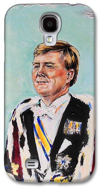 Koning Willem Alexander Galaxy S4 Case by Lucia Hoogervorst