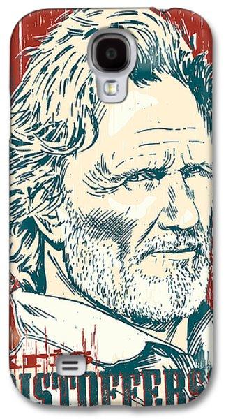 Kris Kristofferson Pop Art Galaxy S4 Case by Jim Zahniser