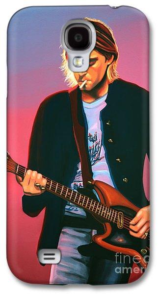 Kurt Cobain In Nirvana Painting Galaxy S4 Case