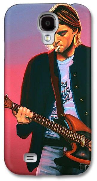 Kurt Cobain In Nirvana Painting Galaxy S4 Case by Paul Meijering