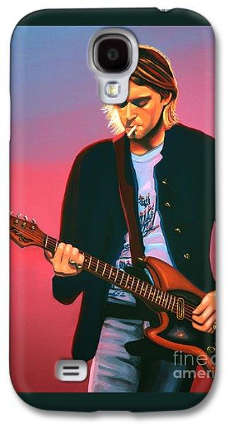Seattle Galaxy S4 Case - Kurt Cobain In Nirvana Painting by Paul Meijering