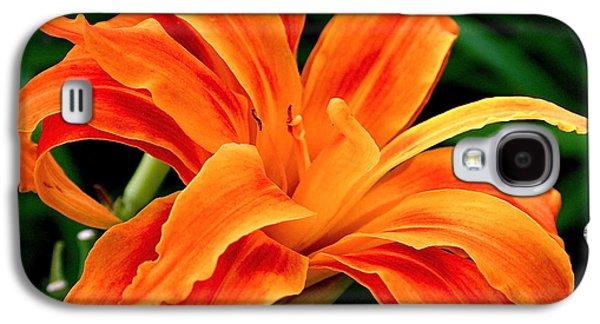 Kwanso Lily Galaxy S4 Case by Rona Black