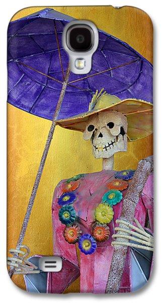 La Catrina With Purple Umbrella Galaxy S4 Case by Christine Till