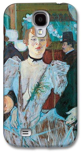 La Goulue Arriving At Moulin Rouge With Two Women Galaxy S4 Case by Henri de Toulouse Lautrec