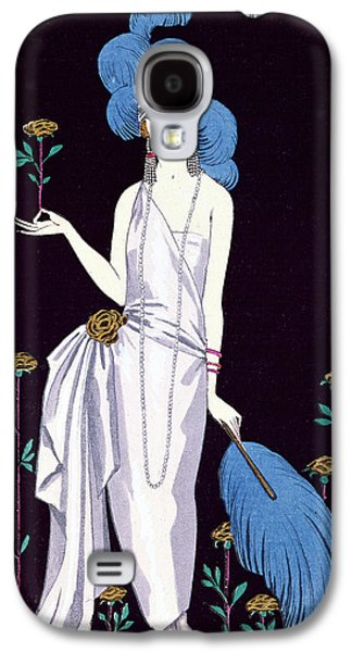 Ostrich Galaxy S4 Case - 'la Roseraie' Fashion Design For An Evening Dress By The House Of Worth by Georges Barbier