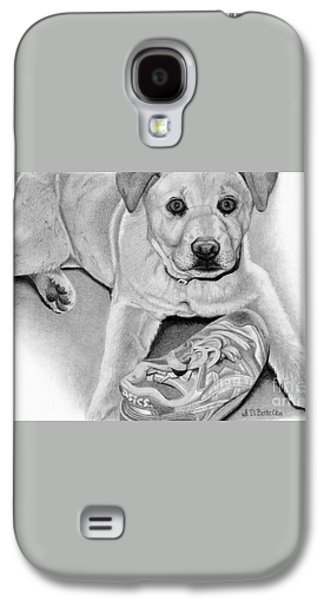 Sneaker Snatcher- Labrador And Chow Chowx Mix Galaxy S4 Case by Sarah Batalka