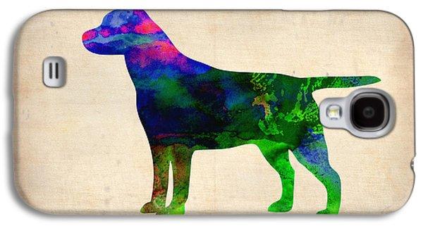 Labrador Retriever Watercolor 2 Galaxy S4 Case by Naxart Studio