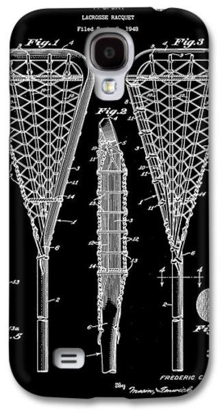 Lacrosse Stick Patent 1948 - Black Galaxy S4 Case