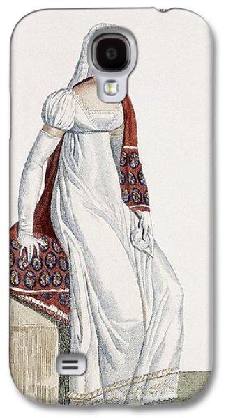 Ladies Day Dress, 1811 Galaxy S4 Case by Pierre de La Mesangere