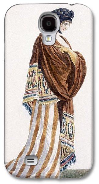 Ladies Dress With Velvet Shawl Galaxy S4 Case by Pierre de La Mesangere