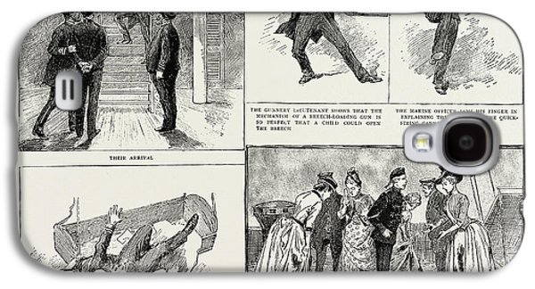 Ladies Visit To An Ironclad, 1889 Their Arrival Galaxy S4 Case by Litz Collection