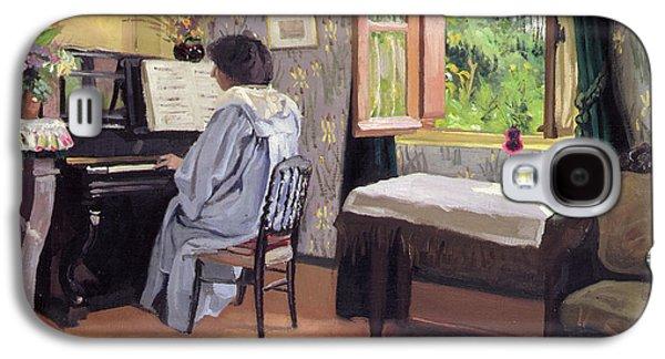 Lady At The Piano Galaxy S4 Case by Felix Edouard Vallotton