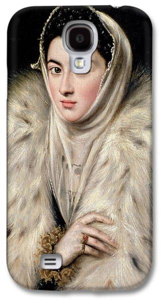 Lady In A Fur Wrap Galaxy S4 Case by Domenico El Greco