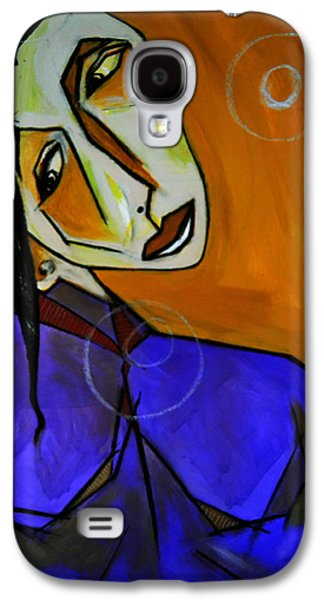 Lady In Blue Galaxy S4 Case by Robert Daniels