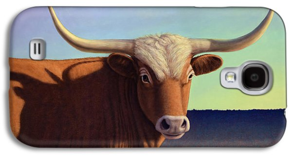 Bull Galaxy S4 Case - Lady Longhorn by James W Johnson