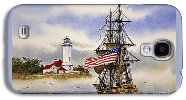 Lady Washington At Point Wilson Lighthouse Galaxy S4 Case by James Williamson