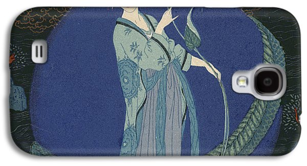 Lady With A Dragon Galaxy S4 Case