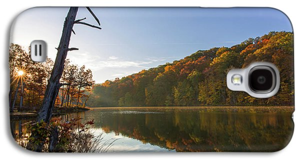 Lake Ogle In Autumn In Brown County Galaxy S4 Case by Chuck Haney