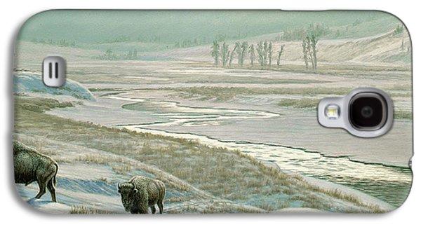 Lamar Valley - Bison Galaxy S4 Case by Paul Krapf