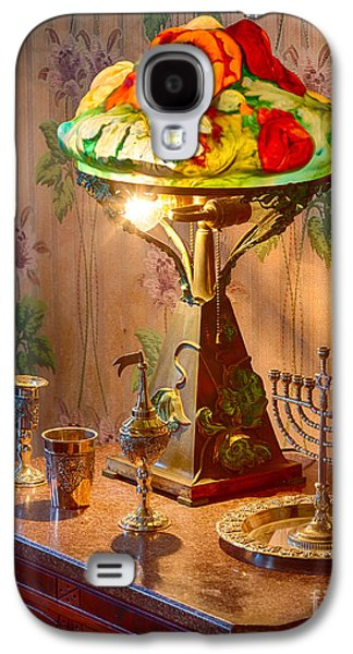 Lamp And Menorah Galaxy S4 Case by Inge Johnsson