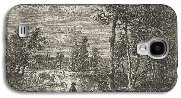 Landscape At Night With Farmers And Livestock Galaxy S4 Case by Artokoloro