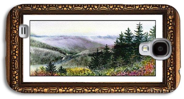 Landscape In Vintage Frame Galaxy S4 Case by Irina Sztukowski