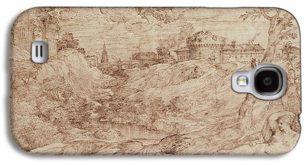 Landscape With A Dragon And A Nude Woman Sleeping Galaxy S4 Case by Titian