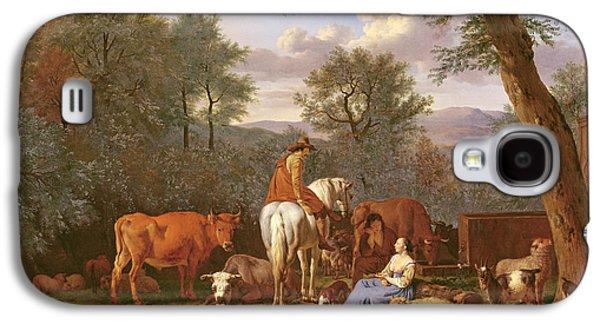 Landscape With Cattle And Figures Galaxy S4 Case by Adriaen van de Velde