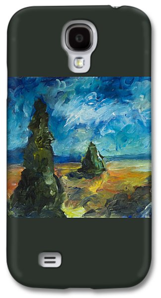 Galaxy S4 Case featuring the painting Emerald Spires by Yulia Kazansky