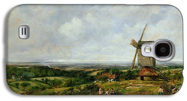 Landscape With Figures By A Windmill Galaxy S4 Case by Frederick Waters Watts