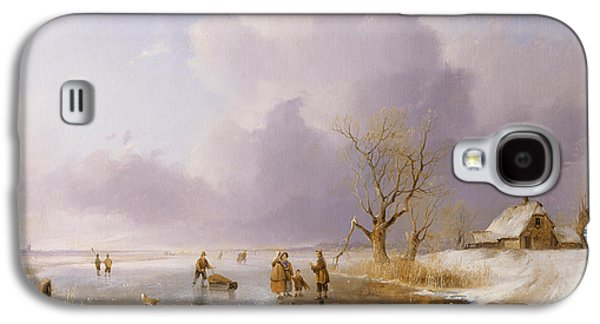 Landscape With Frozen Canal Galaxy S4 Case