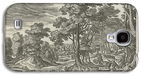 Landscape With Robbery Of The Traveler, Julius Goltzius Galaxy S4 Case