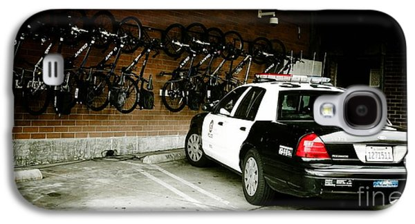 Lapd Cruiser And Police Bikes Galaxy S4 Case by Nina Prommer