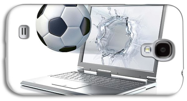 Emergence Galaxy S4 Case - Laptop With Football by Leonello Calvetti