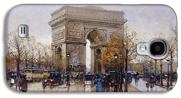 Paris Galaxy S4 Case - L'arc De Triomphe Paris by Eugene Galien-Laloue