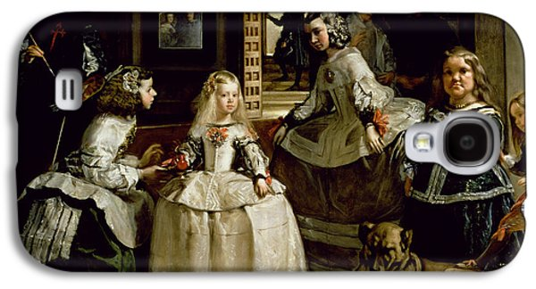 Las Meninas, Detail Of The Lower Half Depicting The Family Of Philip Iv Of Spain, 1656 Galaxy S4 Case by Diego Rodriguez de Silva y Velazquez