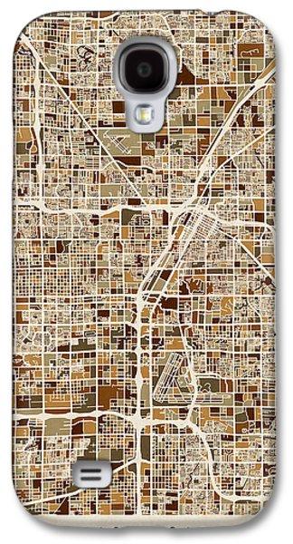 Las Vegas City Street Map Galaxy S4 Case by Michael Tompsett