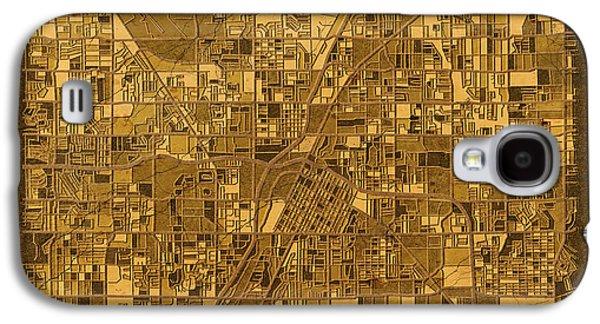 Las Vegas Map Antique 2 Galaxy S4 Case by Bekim Art