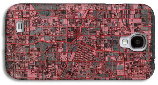 Las Vegas Map Antique Galaxy S4 Case by Bekim Art