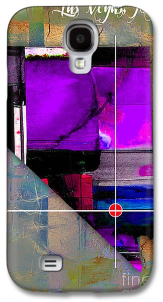 Las Vegas Nevada Map Watercolor Galaxy S4 Case by Marvin Blaine