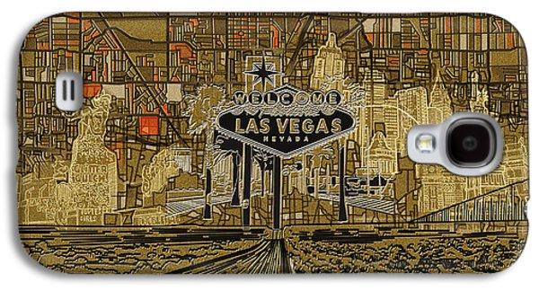 Las Vegas Skyline Abstract 2 Galaxy S4 Case by Bekim Art