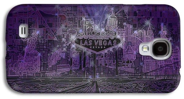 Las Vegas Skyline Abstract Galaxy S4 Case by Bekim Art