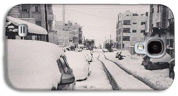 Last Snow In Amman,  Dec. 13 #beamman Galaxy S4 Case