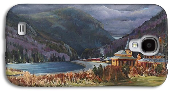 Last Train To Crawford Notch Depot Galaxy S4 Case by Nancy Griswold