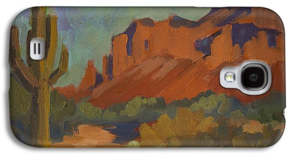 Late Afternoon Light At Superstition Mountain Galaxy S4 Case by Diane McClary