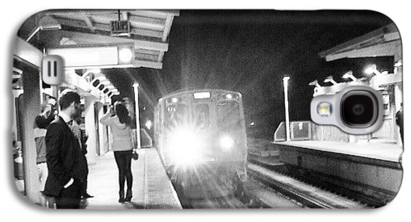 Light Galaxy S4 Case - Late Night On The Red Line by Jill Tuinier