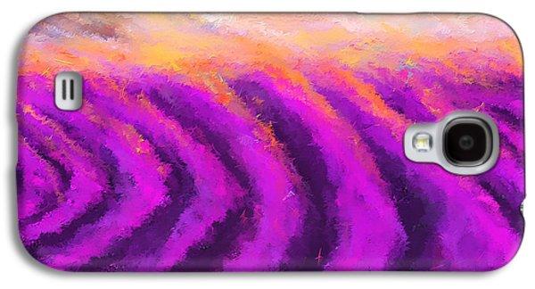 Lavender Delight - Lavender Field Impressionist Galaxy S4 Case by Lourry Legarde
