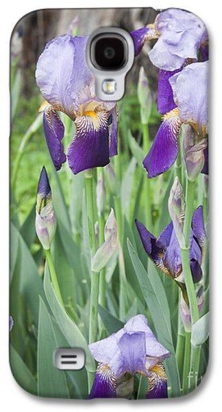 Lavender Iris Group Galaxy S4 Case by Teresa Mucha