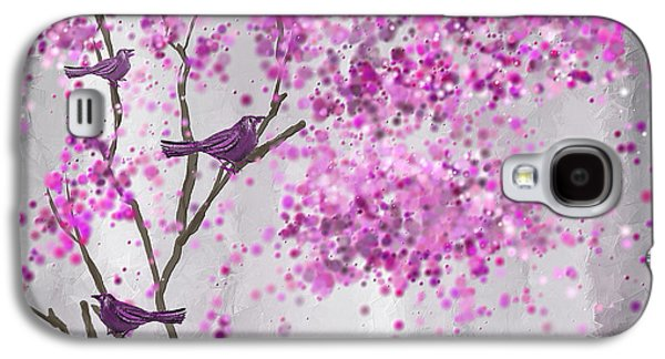 Lavender Leisure- Lavender Wall Art Galaxy S4 Case by Lourry Legarde