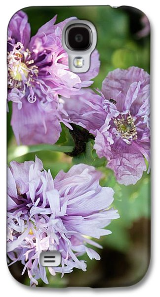 Lavender Peony Poppies Galaxy S4 Case